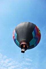Hot air balloon on the sky