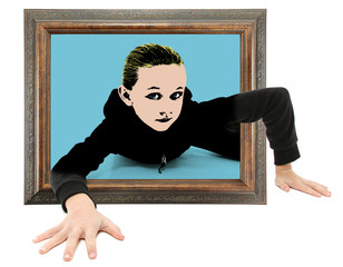 Child Crawling Out of Pop Art