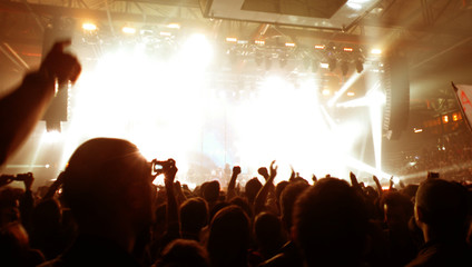 folla che applaude al concerto