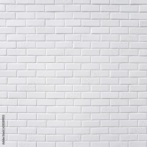 Fotobehang Wand White brick wall