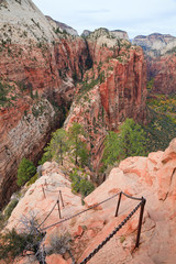 Angel's Landing Trail in Zion Canyon