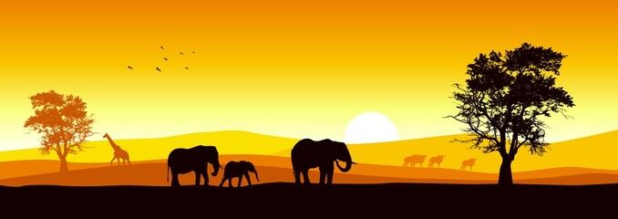Stock vector of African wildlife