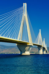 The Rio-Antirrio, cable-stayed bridge in Greece