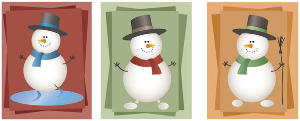 Funny snowmans