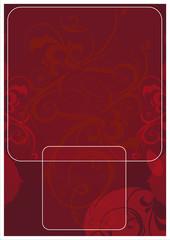 Page fond vecteur rouge