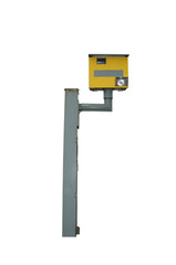 Speed camera box, isolated on pure white