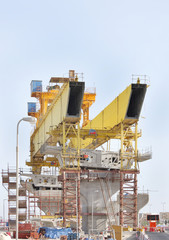Front legs of giant Launching Girder
