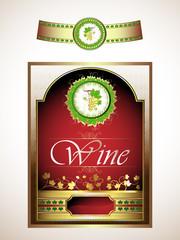 Vintage set, labels for red wine
