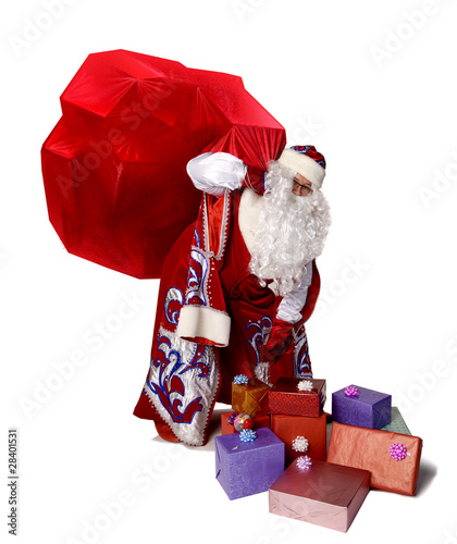 Big bag of Santa Claus