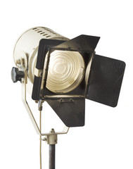 vintage studio light, isolated on white background