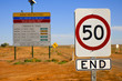 Straßenschild am Oodnadatta Track