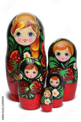 Red russian nesting doll