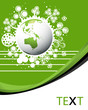 Ecology green planet vector concept background