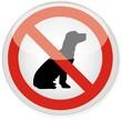 bouton interdit aux chiens
