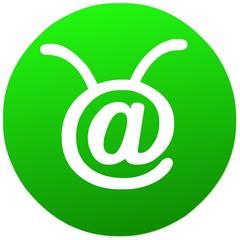umwelt   icon . natur grün e-mail