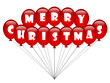 """MERRY CHRISTMAS"" (balloons party message icon card happy xmas)"