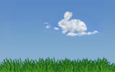 Wolke in Form eines Osterhasen