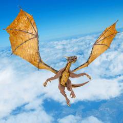 dragon soaring on the sky