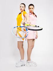 girls tennis players