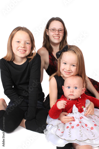 four girls of different ages
