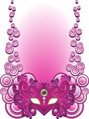 Maschera Viola -Purple Carnival Mask-Vector