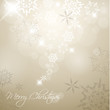 Golden Vector Christmas background