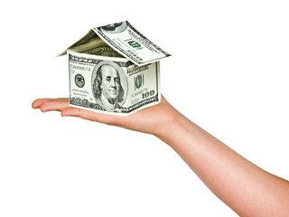Money house in hand