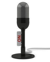 Black retro microphone