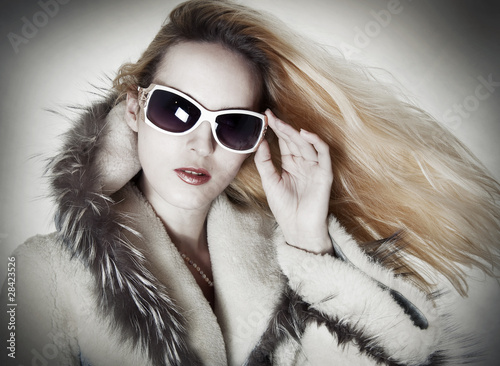 Fashion portrait of seductive woman