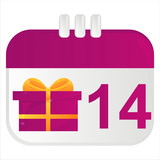 st. valentine's day calendar icon