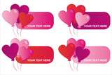 set of 4 st. valentine's day banners