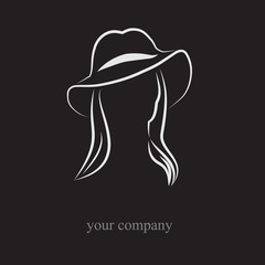 Logo Woman with hat # Vector