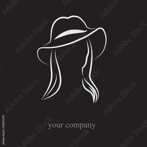 Woman Within Logo Logo Woman With Hat Vector