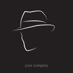 Logo Man with hat # Vector