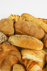 Mixed fresh bread