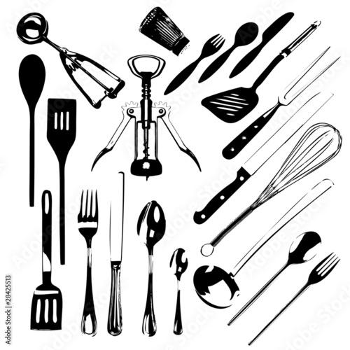 Ustensiles de cuisine 2 fichier vectoriel libre de for Ustensile cuisine en ligne