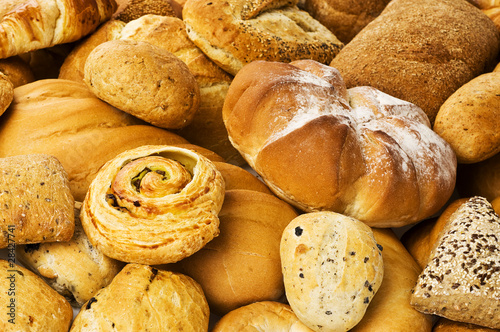 fresh bread background