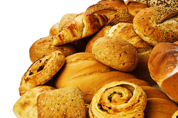 Mixed fresh breads