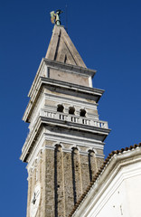 Piran - Venetian bell tower of Saint George, Slovenia