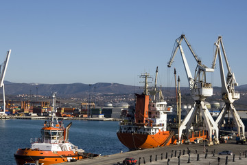 Koper a largest commercial port in Slovenia