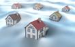 Snowy Winter, 3D image