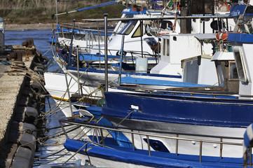 Italy, Sicily, Portopalo di Capo Passero, fishing boats