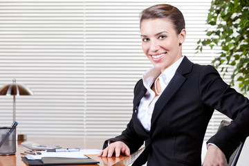 Woman at Work in Suit