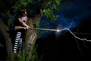 Witch strikes the lightning