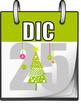 Calendario, Giorno 25 con albero di Natale