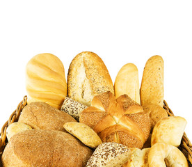 Bread mixture on white background