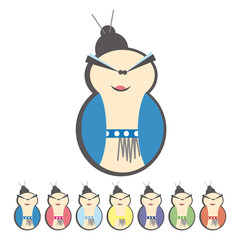comical vector illustration of a Chinese © alvaroc