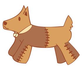 Dog peluche.