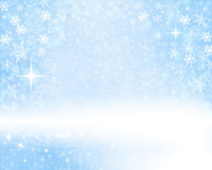 Snowy Blue Background