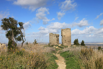 Tower in ruins